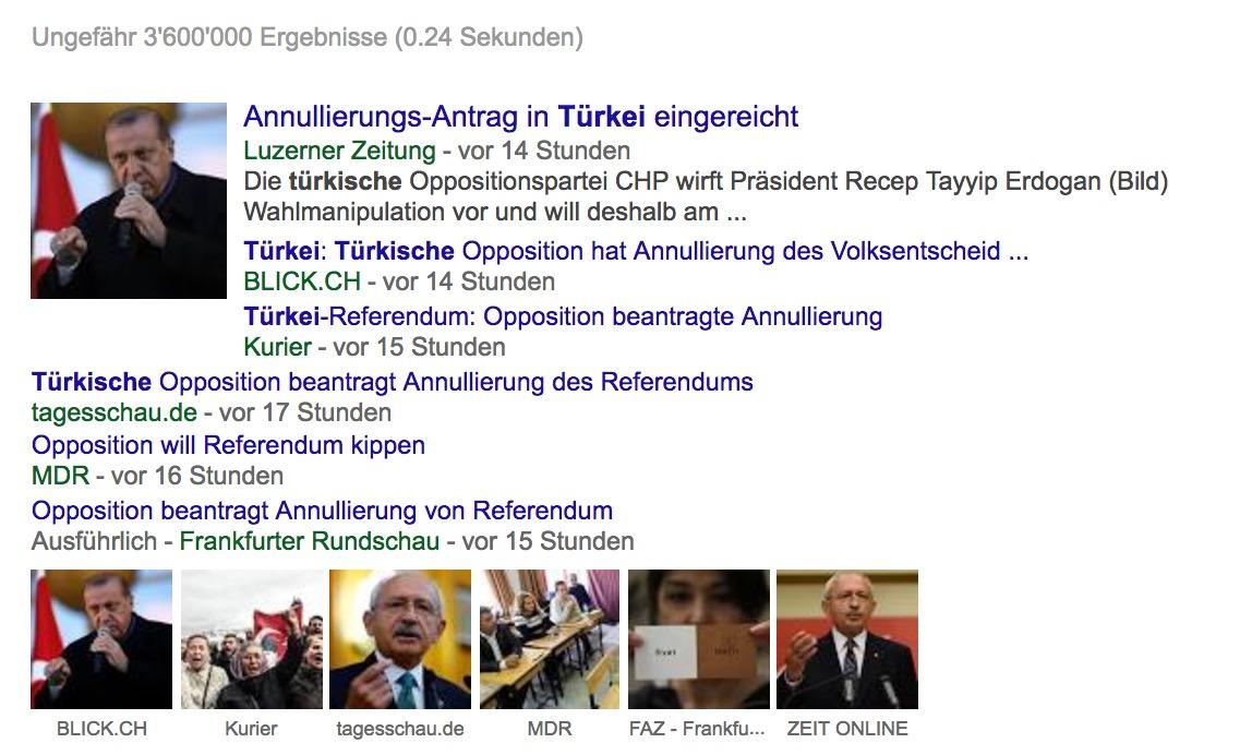 Suchresultat für Türkei auf google news